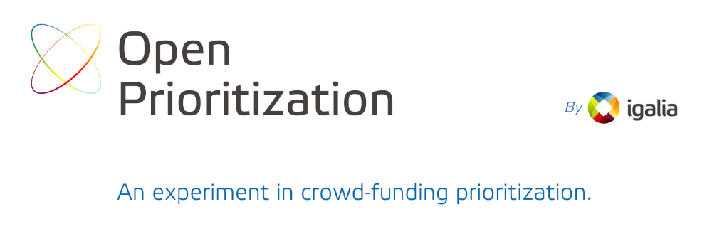 Open Prioritization, by Igalia: An experiment in crowdfunding prioritization